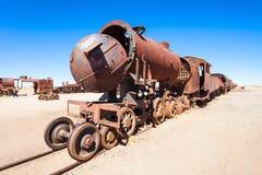 Кладбище поезда, Боливия Стоковое Изображение