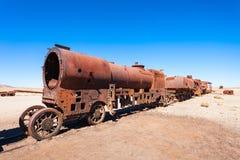 Кладбище поезда, Боливия Стоковые Фото