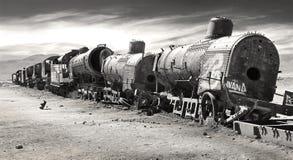 Кладбище поезда Стоковое фото RF