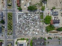 Кладбище Сент-Луис никакое 1 в Новом Орлеане Viev сверху стоковая фотография rf