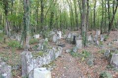 кладбище старое стоковая фотография rf