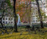 Кладбище хороня земли зернохранилища - Бостон, Массачусетс, США Стоковое Изображение