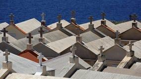 Кладбище Bonifacio - Корсика стоковое изображение rf