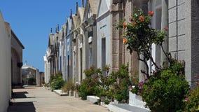Кладбище Bonifacio - Корсика Стоковые Фотографии RF