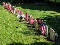 Кладбище Confederate на национальном парке Appomattox Стоковая Фотография