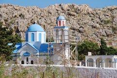 Кладбище Emborio, Halki Стоковые Изображения