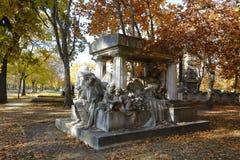 Кладбище Kerepesi в Будапеште, Венгрии, 2 Novt 2015 Стоковое фото RF