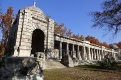 Кладбище Kerepesi в Будапеште, Венгрии, 2 Novt 2015 Стоковое Изображение