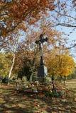 Кладбище Kerepesi в Будапеште, Венгрии, 2 Novt 2015 Стоковые Фото