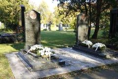 Кладбище Kerepesi в Будапеште, Венгрии, 2 Novt 2015 Стоковые Изображения