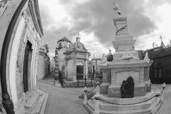 Кладбище Recoleta, Буэнос-Айрес, Аргентина стоковые фотографии rf