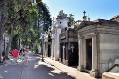 Кладбище Recoleta Ла Стоковые Изображения