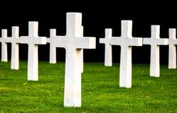 Кладбище Waregem Бельгия поля Фландрии американское Стоковое Изображение