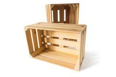 кладет деревянное в коробку Стоковые Фотографии RF