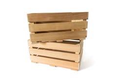 кладет деревянное в коробку Стоковая Фотография RF