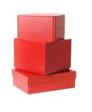 кладет красный цвет в коробку подарка Стоковое Изображение