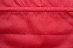 кладет красный цвет в мешки ткани Стоковая Фотография RF