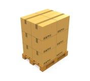 кладет паллет в коробку картона деревянный бесплатная иллюстрация