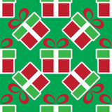 кладет подарок в коробку рождества цветастый картина праздника безшовная Иллюстрация вектора