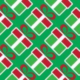 кладет подарок в коробку рождества цветастый картина праздника безшовная Стоковые Изображения