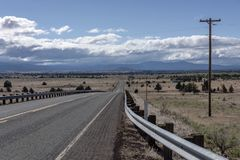 К востоку от ландшафта Орегона гор каскада Стоковые Фото