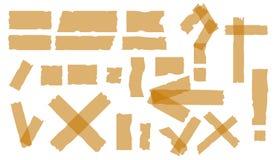 Клейкие ленты Vector липкая часть шотландской ленты клея изолированная на белой предпосылке Стоковые Фото