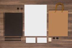 Клеймя собрание модель-макета для представления CI стоковые фото