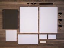 Клеймя собрание модель-макета для фирменного стиля Стоковые Фотографии RF
