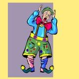 Клекоты клоуна Стоковая Фотография
