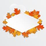 Кленовые листы счастливого ярлыка благодарения красивые иллюстрация штока