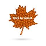 Кленовый лист осени вектора назад к школе Стоковые Изображения