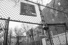Клетка, западные 4-ые суды улицы Стоковые Фото