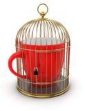 Клетка золота с чашкой (включенный путь клиппирования) Бесплатная Иллюстрация