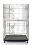 Клетка клети или животного кота провода Стоковое Изображение
