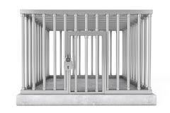 Клетка металла с замком Стоковое Изображение