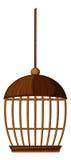 Клетка птицы сделанная из древесины бесплатная иллюстрация