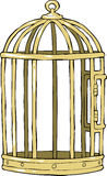 Клетка птицы иллюстрация штока