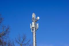 Клетки башенной антенны радиосвязей для мобильных телефонных связей Стоковые Фото