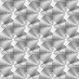 Клетчатая геометрическая картина, плавно repeatable Абстрактное mono Стоковые Фотографии RF