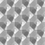 Клетчатая геометрическая картина, плавно repeatable Абстрактное mono Стоковое Фото