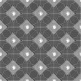 Клетчатая геометрическая картина, плавно repeatable Абстрактное mono Стоковое Изображение RF