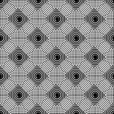 Клетчатая геометрическая картина, плавно repeatable Абстрактное mono Стоковые Фото