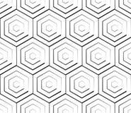 Клетчатая геометрическая картина, плавно repeatable Абстрактное mono Стоковые Изображения RF
