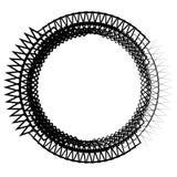 Клетчатая решетка, картина сетки с кругами от разбивочное Repeatable Стоковое фото RF