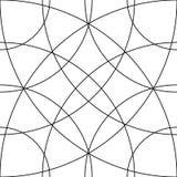 Клетчатая решетка, картина сетки с кругами от разбивочное Repeatable Стоковая Фотография RF