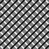 Клетчатый, картина решетки безшовная черно-белая Стоковое Фото