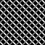 Клетчатый, картина решетки безшовная черно-белая Стоковая Фотография
