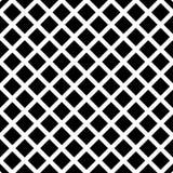 Клетчатый, картина решетки безшовная черно-белая Стоковые Изображения RF