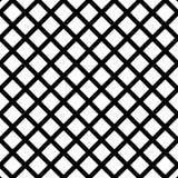 Клетчатый, картина решетки безшовная черно-белая Стоковые Фото