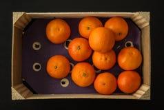 Клеть апельсинов Клементина, сверху Стоковые Изображения